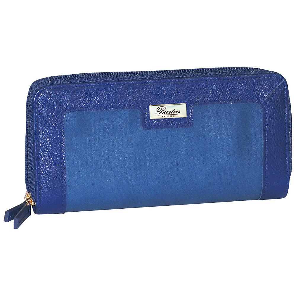 Buxton East West Zip Around Wallet Ultramarine Buxton Women s Wallets