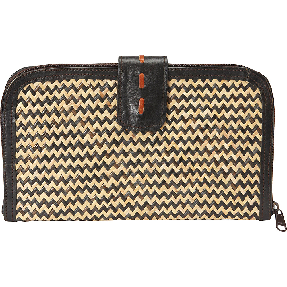 TLC you Alex Wallet Herringbone Black TLC you Women s Wallets