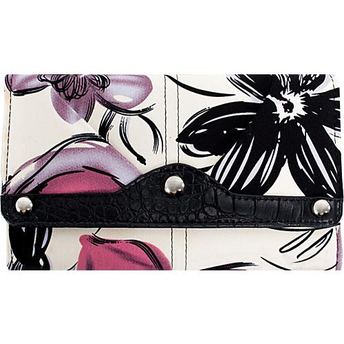 Parinda Giada Wallet Violet Floral - Parinda Ladies Small Wallets