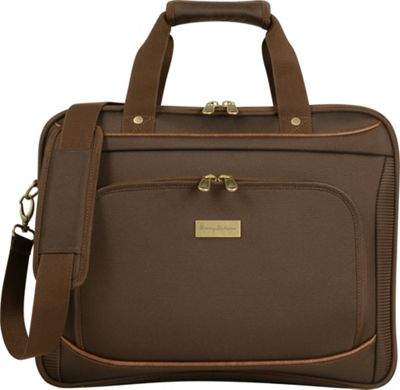 Tommy Bahama Harbor Elua 16 inch Briefcase Brown - Tommy Bahama Non-Wheeled Business Cases