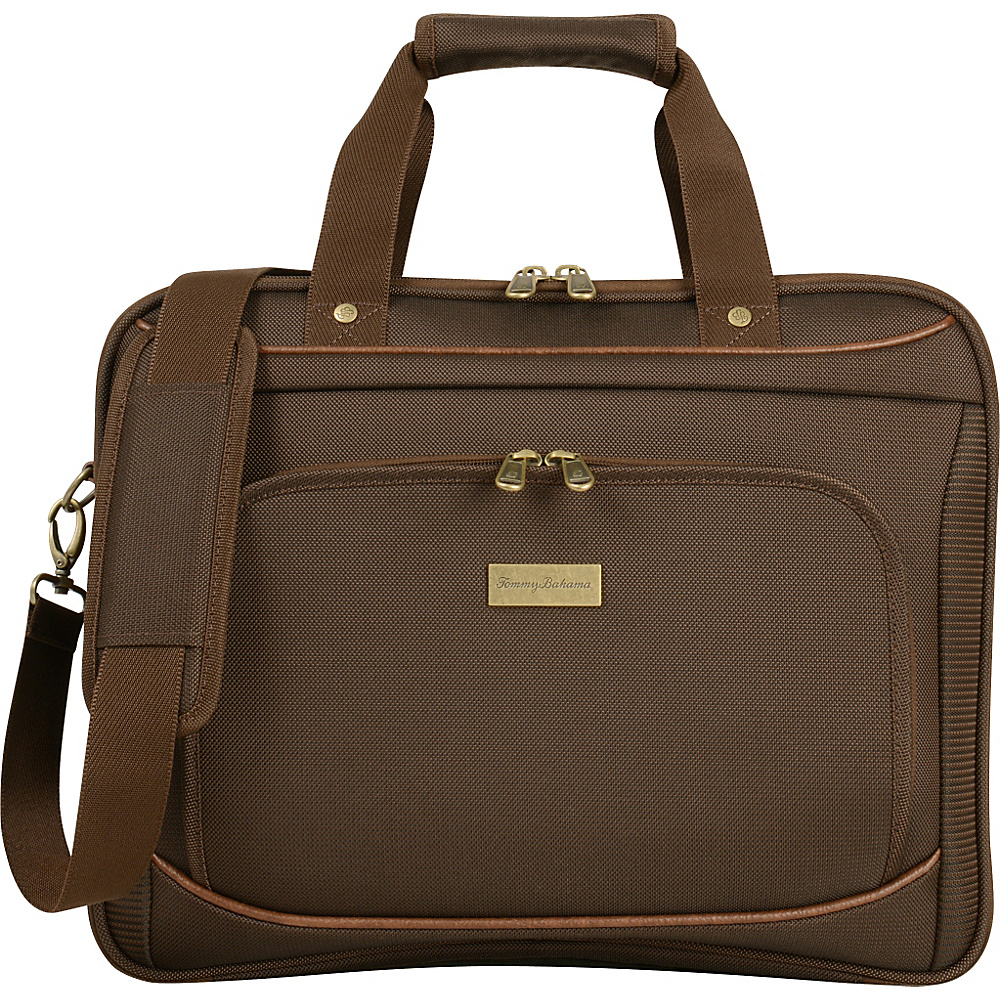 Tommy Bahama Harbor Elua 16 Briefcase Brown Tommy Bahama Non Wheeled Business Cases