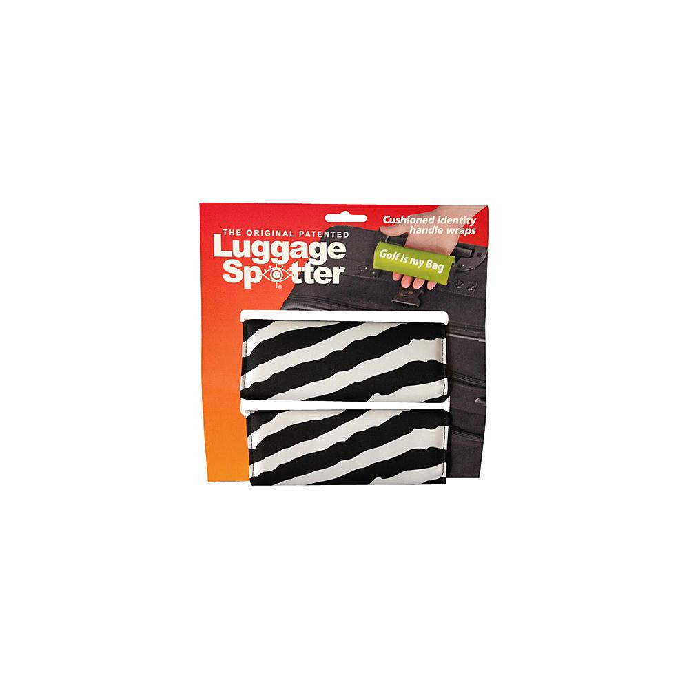 Luggage Spotters Designer Zebra Luggage Spotter Black Luggage Spotters Luggage Accessories