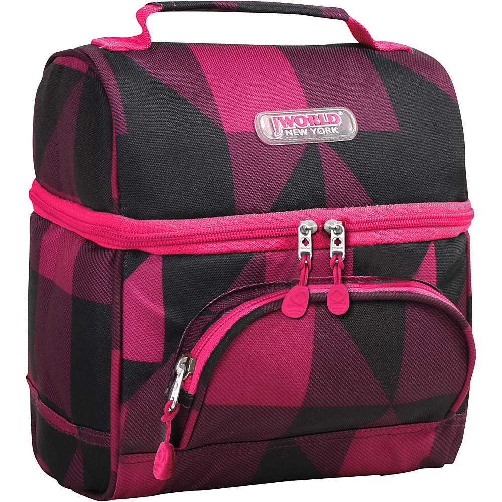 J World New York Corey Lunch Bag Block Pink - J World New York Travel Coolers - Travel Accessories, Travel Coolers