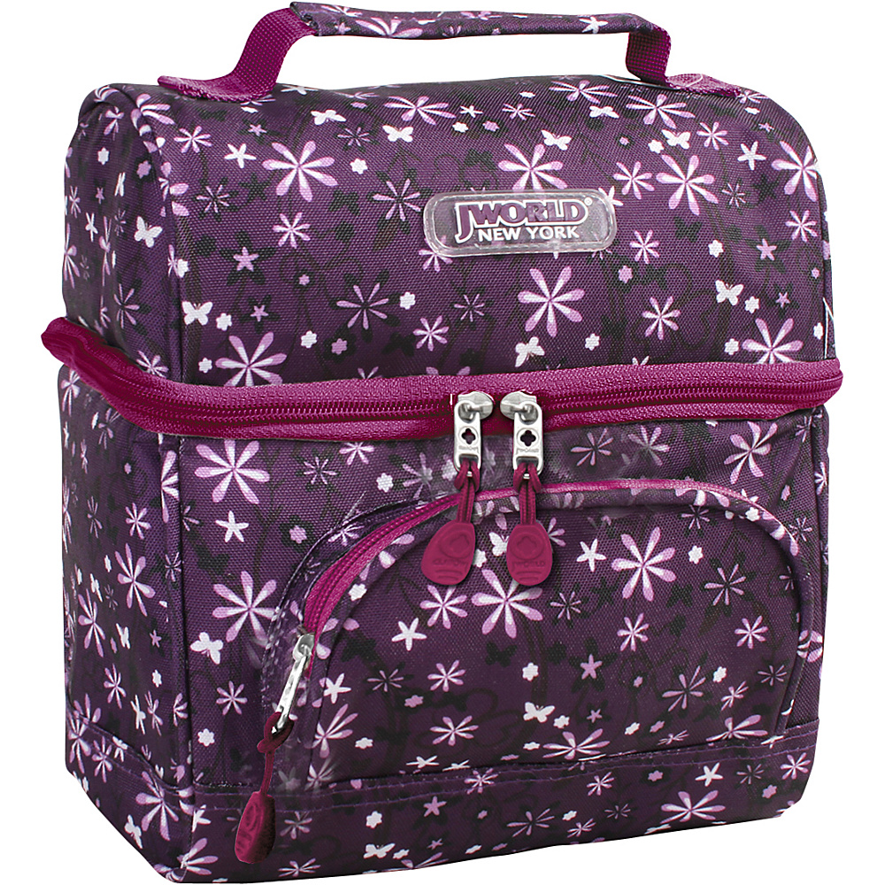 J World New York Corey Lunch Bag Garden Purple - J World New York Travel Coolers