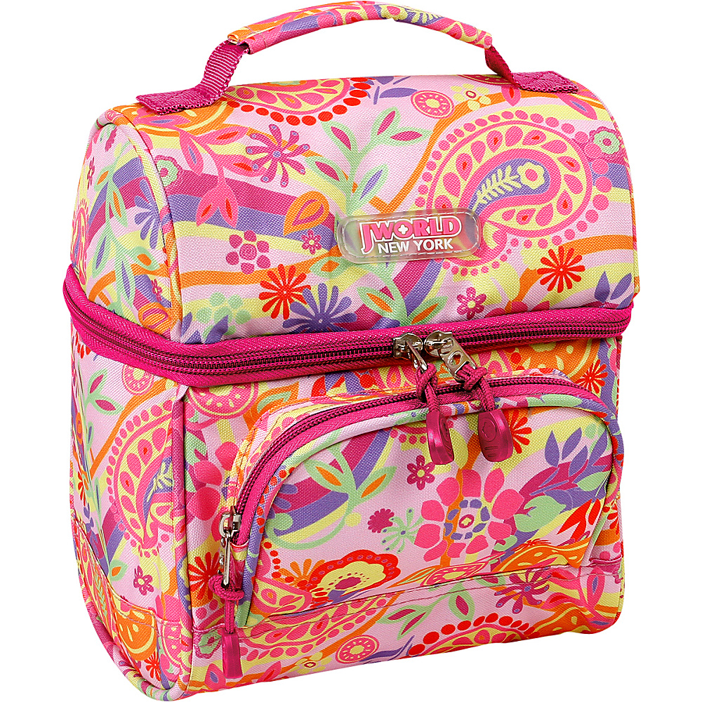 J World New York Corey Lunch Bag Pink Paisley - J World New York Travel Coolers - Travel Accessories, Travel Coolers