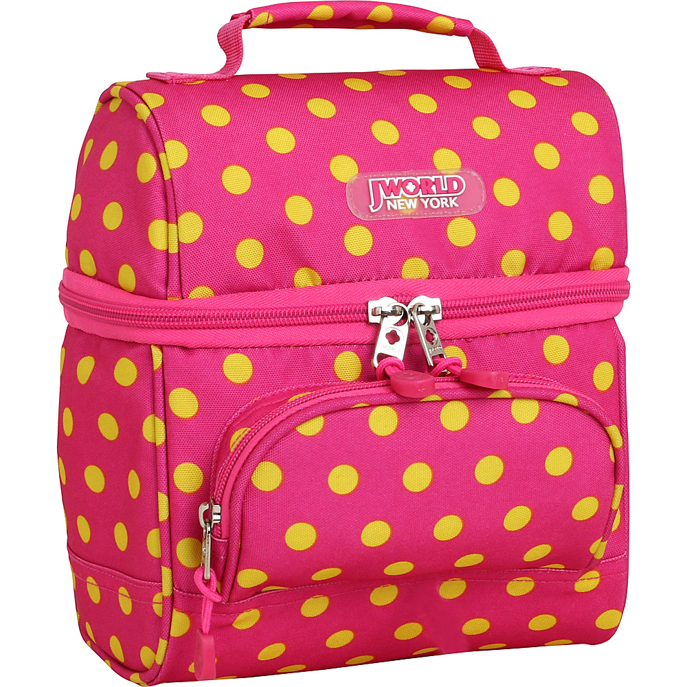 J World New York Corey Lunch Bag Pink Buttons - J World New York Travel Coolers - Travel Accessories, Travel Coolers