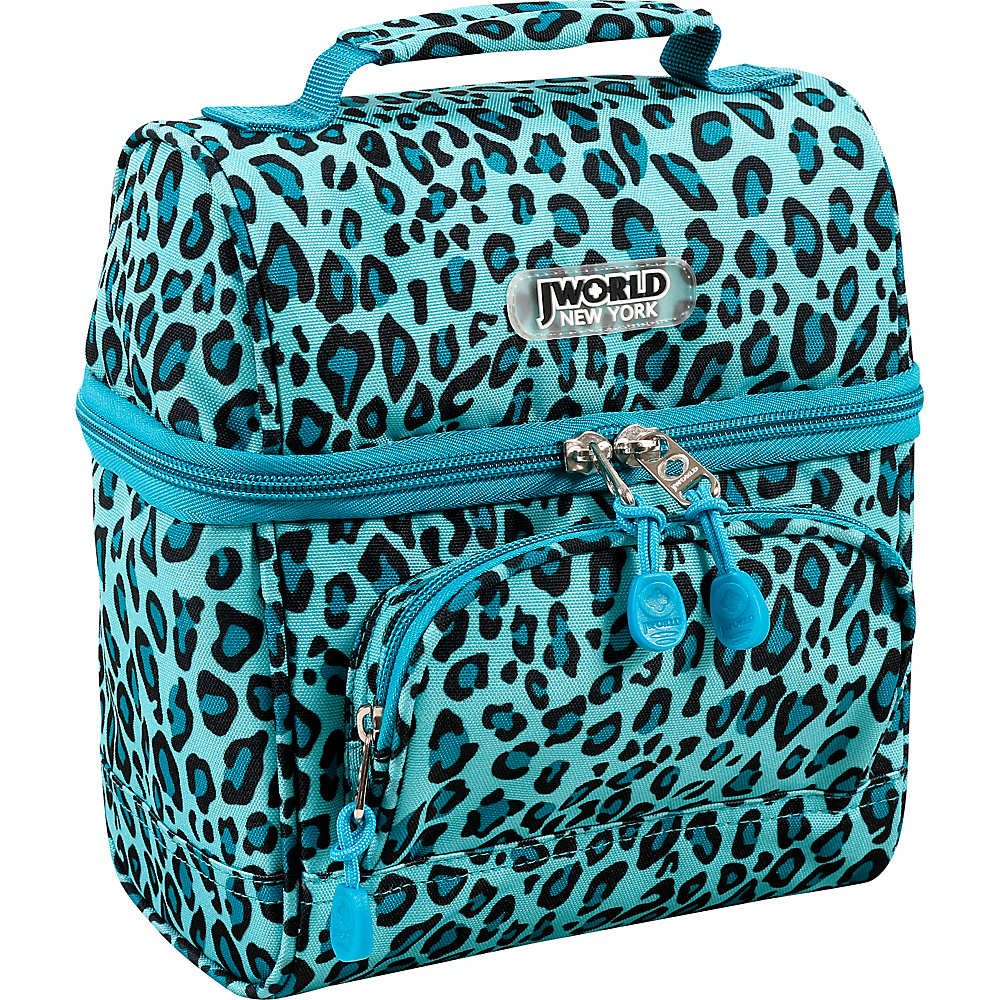 J World New York Corey Lunch Bag Mint Leopard - J World New York Travel Coolers - Travel Accessories, Travel Coolers