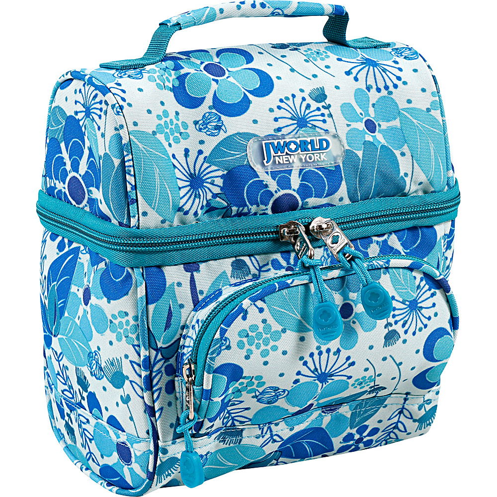 J World New York Corey Lunch Bag Blue Vine - J World New York Travel Coolers - Travel Accessories, Travel Coolers