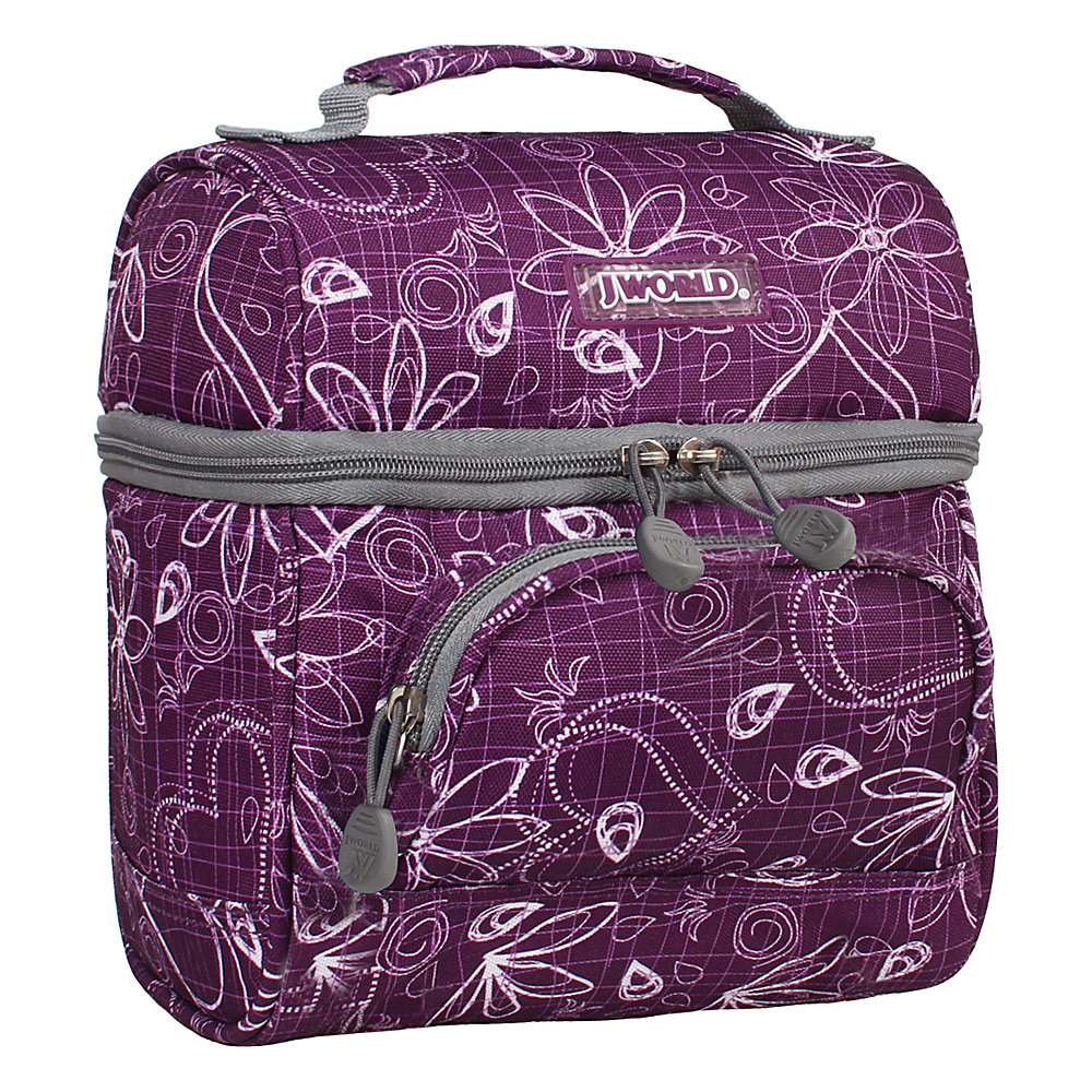 J World New York Corey Lunch Bag Love Purple - J World New York Travel Coolers - Travel Accessories, Travel Coolers