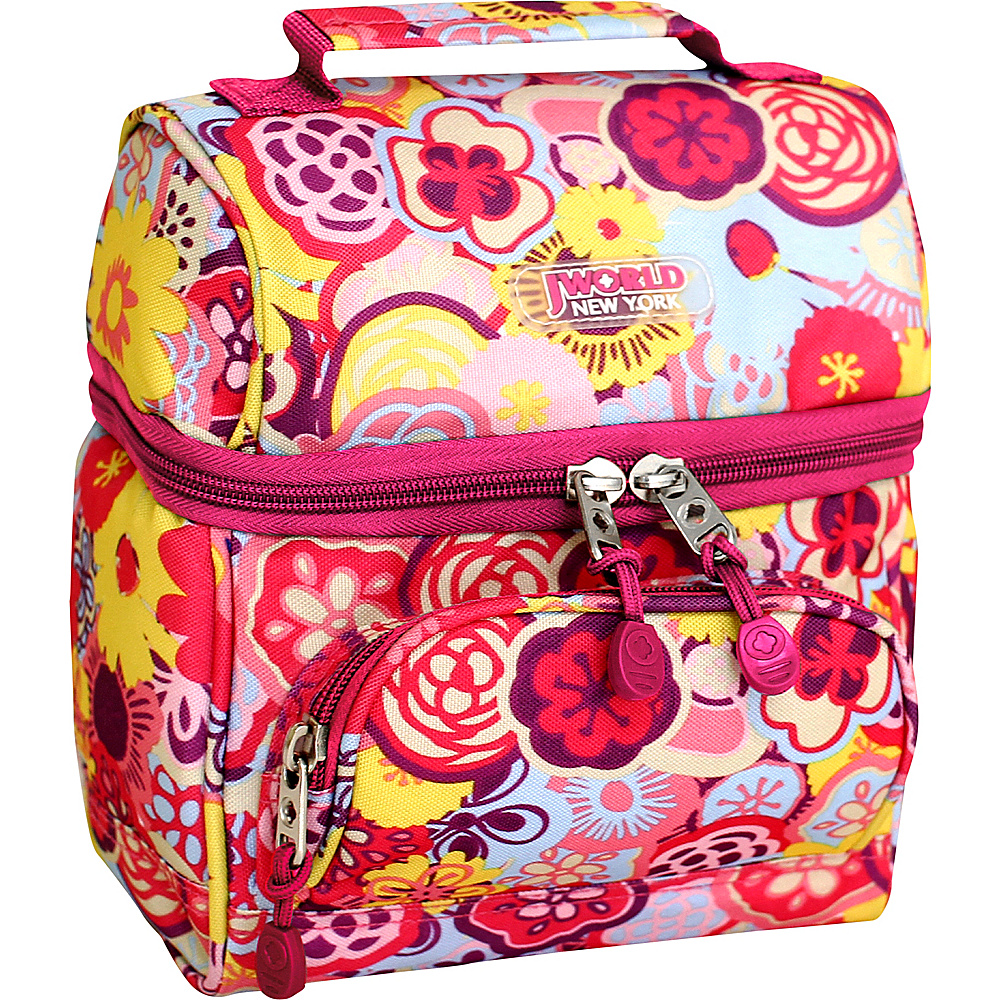 J World New York Corey Lunch Bag POPPY PANSY - J World New York Travel Coolers - Travel Accessories, Travel Coolers