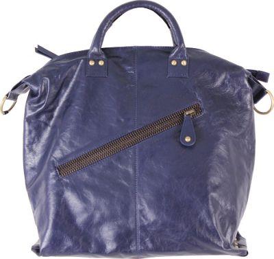 Latico Leathers Sam Tote Navy - Latico Leathers Leather Handbags