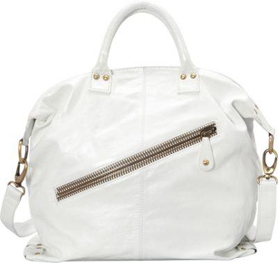 Latico Leathers Sam Tote Metallic White - Latico Leathers Leather Handbags