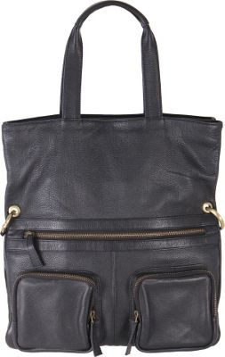 Latico Leathers Casey Tote Pebble Black - Latico Leathers Leather Handbags