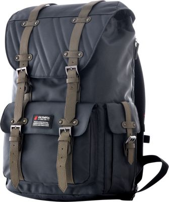 Olympia USA Hopkins Backpack - 18 inch Charcoal Gray - Olympia USA Business & Laptop Backpacks