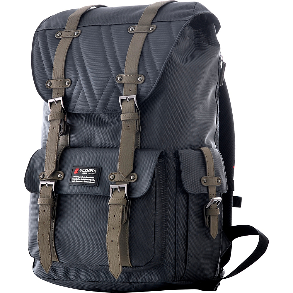 Olympia Hopkins 18 Backpack Charcoal Gray Olympia Business Laptop Backpacks
