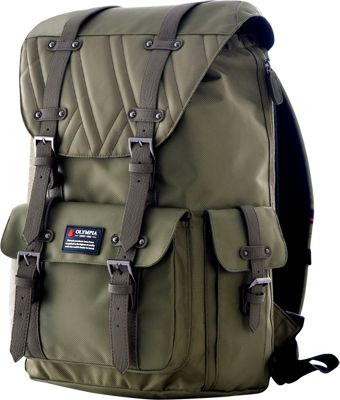 Olympia USA Hopkins Backpack - 18 inch Olive - Olympia USA Business & Laptop Backpacks