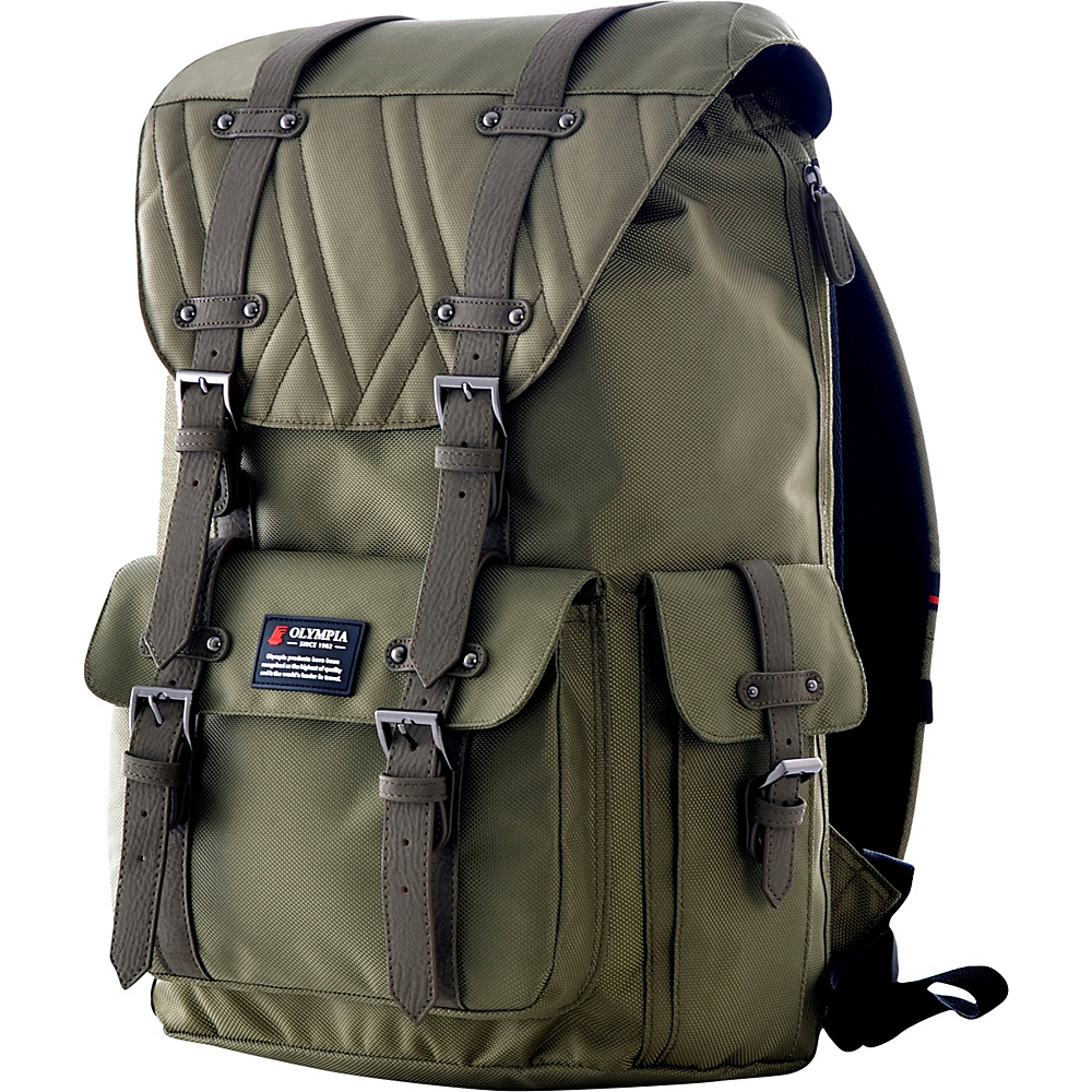 Olympia Hopkins 18 Backpack Olive Olympia Business Laptop Backpacks