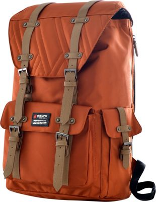 Olympia USA Hopkins Backpack - 18 inch Sienna - Olympia USA Business & Laptop Backpacks