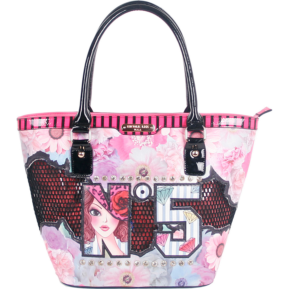 Nicole Lee N5 Print Tote Bag No. 5 Nicole Lee Manmade Handbags