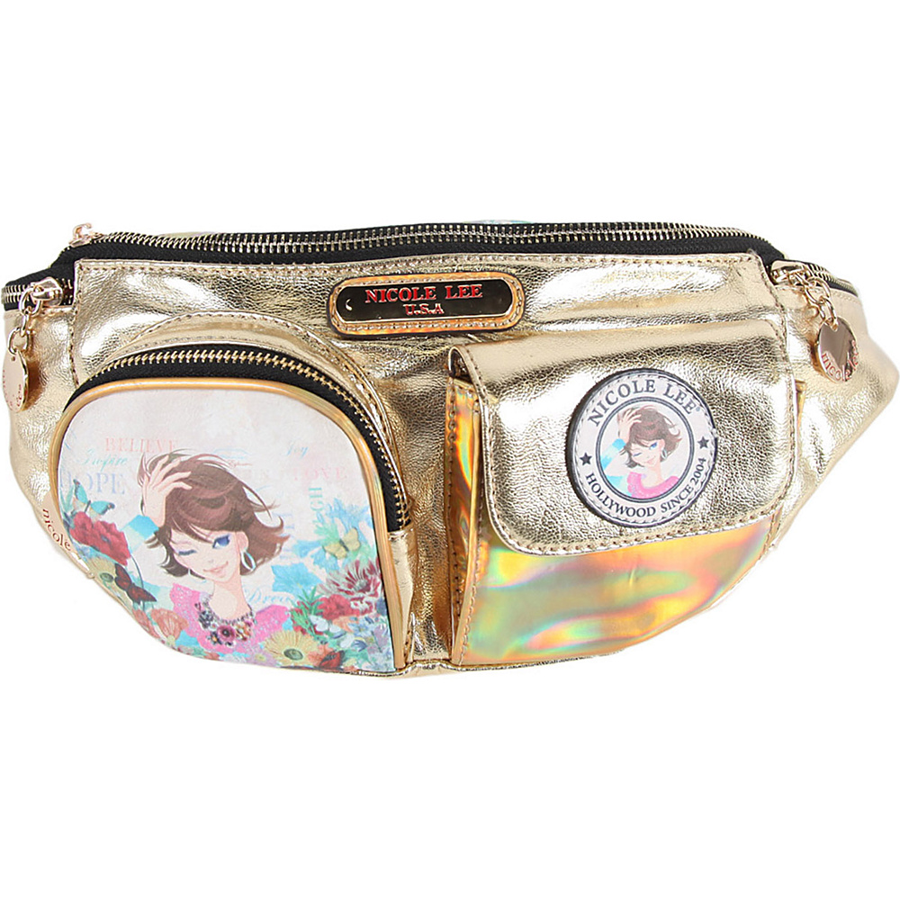 Nicole Lee Xochil Print Fanny Pack Gold Nicole Lee Waist Packs