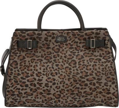 Vince Camuto Eli Haircalf Satchel Black/Multi Gray - Vince Camuto Designer Handbags
