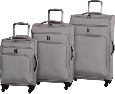 it luggage MegaLite Luggage Collection 3 Piece Spinner Luggage Set- eBags Exclusive Flint Gray - it luggage Luggage Sets