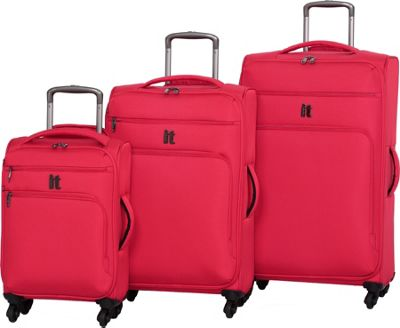 it luggage MegaLite Luggage Collection 3 Piece Spinner Luggage Set- eBags Exclusive Fiery Red - it luggage Luggage Sets