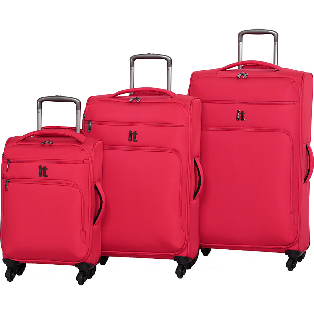 it luggage MegaLite Luggage Collection 3 Piece Spinner Luggage Set eBags Exclusive Fiery Red it luggage Luggage Sets