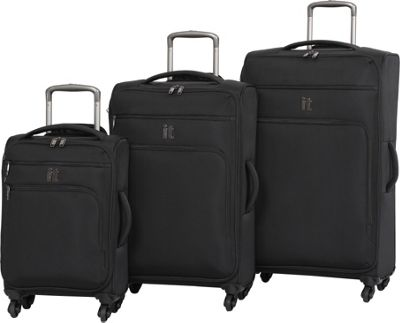 it luggage MegaLite Luggage Collection 3 Piece Spinner Luggage Set- eBags Exclusive Black - it luggage Luggage Sets