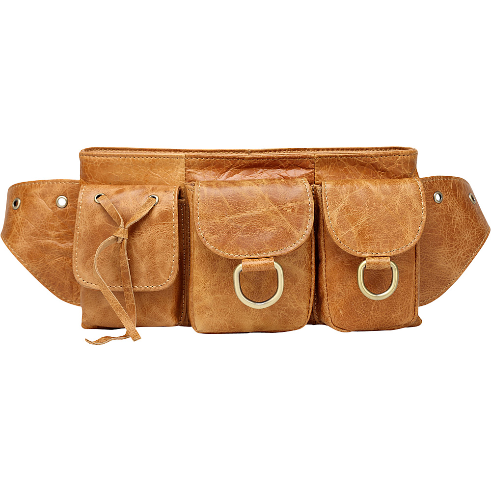 Vicenzo Leather Small Adonis Genuine Leather Waist Purse Fanny Pack Brown Small Vicenzo Leather Waist Packs