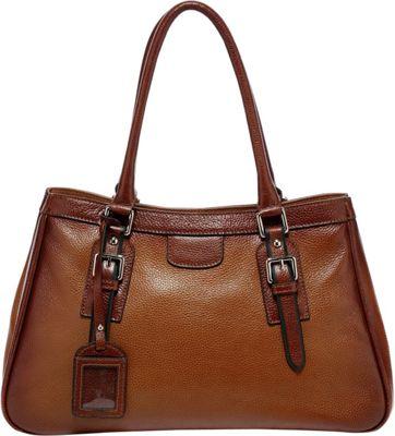 Vicenzo Leather Anna Italian Leather Handbag Brown - Vicenzo Leather Leather Handbags