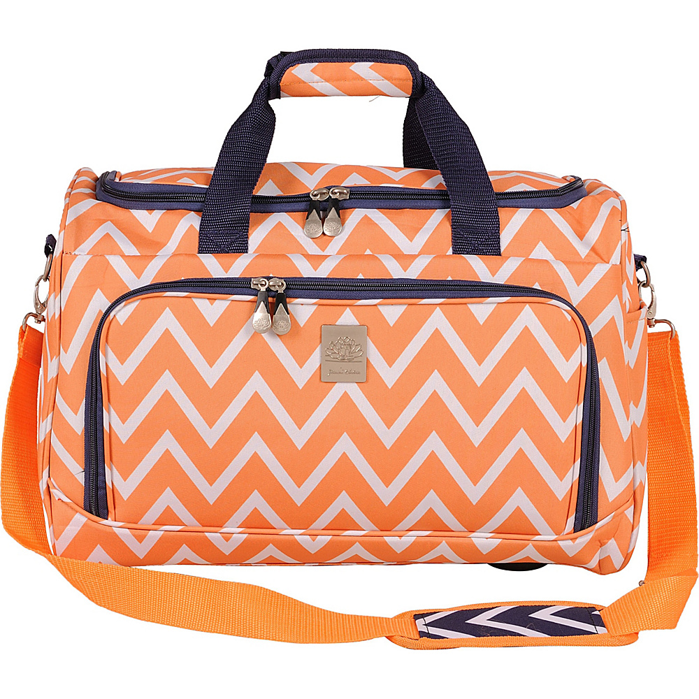Jenni Chan Aria Madison Duffel Orange Jenni Chan Travel Duffels
