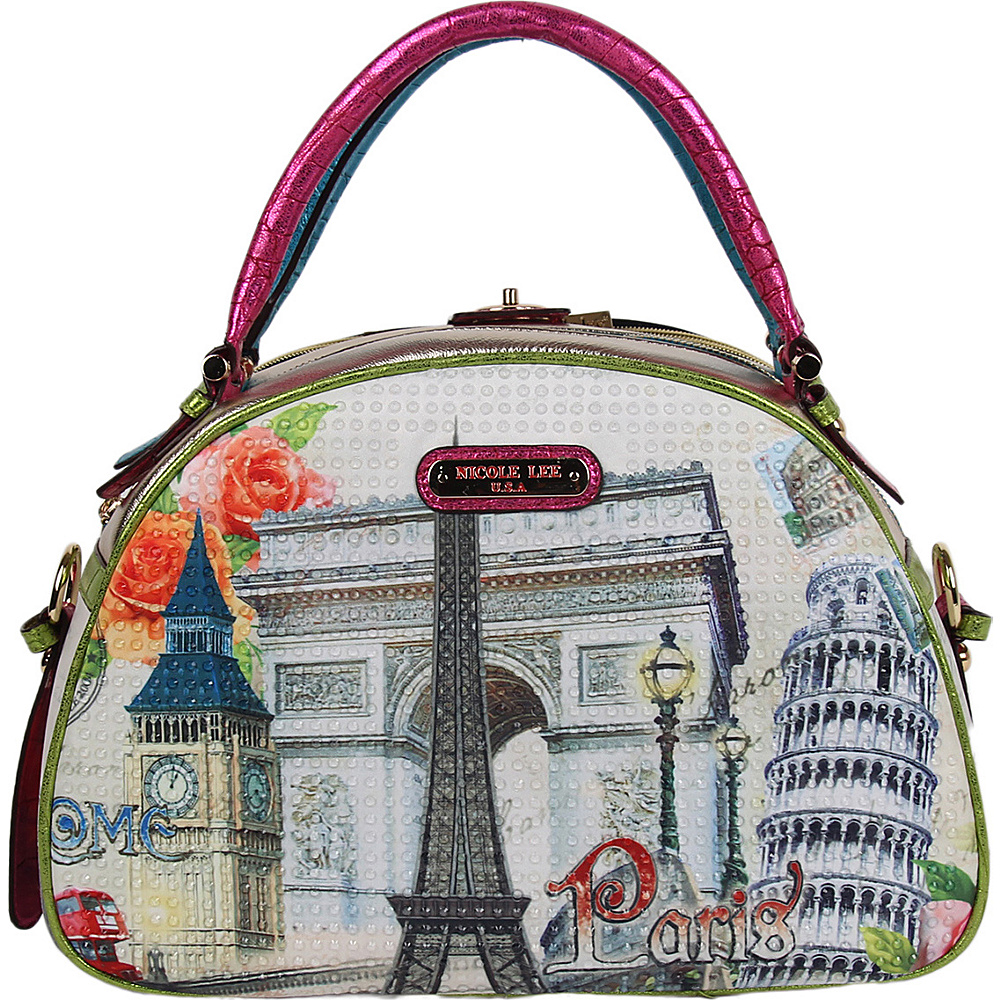 Nicole Lee Europe Print Bowler Bag Europe Nicole Lee Manmade Handbags