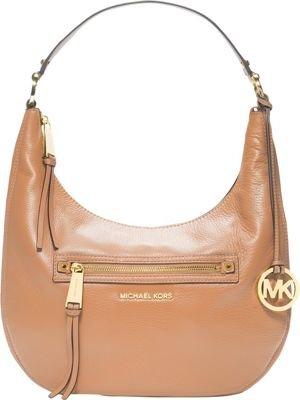 MICHAEL Michael Kors Rhea Zip Medium Zip Shoulder Bag Suntan - MICHAEL Michael Kors Designer Handbags