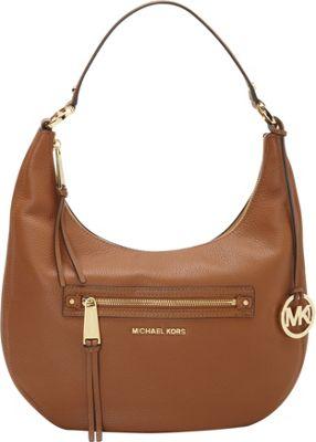 MICHAEL Michael Kors Rhea Zip Medium Zip Shoulder Bag Luggage - MICHAEL Michael Kors Designer Handbags