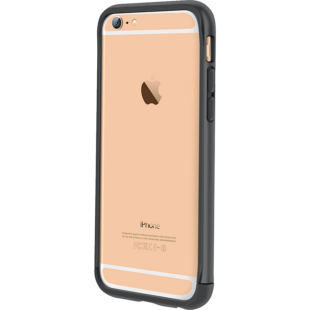 rooCASE Ultra Slim Fit Strio Bumper Case Cover for iPhone 6 6s 4.7 Grey rooCASE Electronic Cases