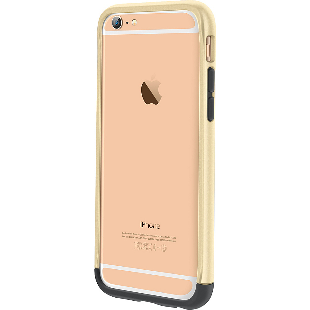 "rooCASE Ultra Slim Fit Strio Bumper Case Cover for iPhone 6/6s - 4.7"" Fossil Gold - rooCASE Electronic Cases"