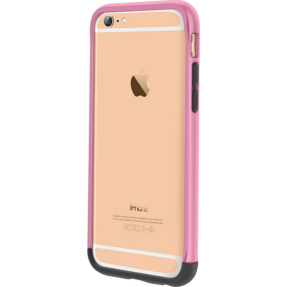 rooCASE Ultra Slim Fit Strio Bumper Case Cover for iPhone 6 6s 4.7 Pink rooCASE Electronic Cases