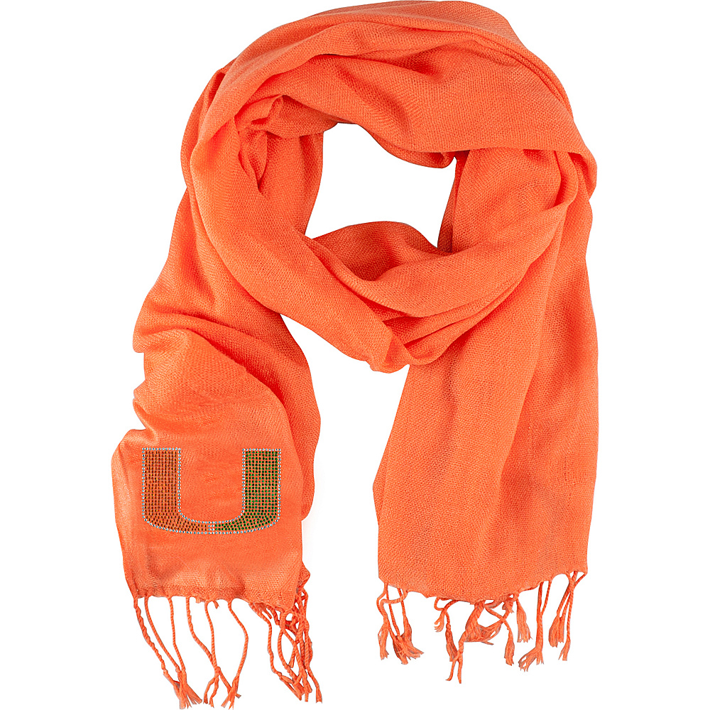 Littlearth Pashi Fan Scarf - ACC Teams Miami, U of - Littlearth Hats/Gloves/Scarves - Fashion Accessories, Hats/Gloves/Scarves