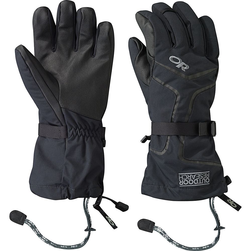 Outdoor Research Highcamp Gloves Mens M - Black - Outdoor Research Hats/Gloves/Scarves - Fashion Accessories, Hats/Gloves/Scarves