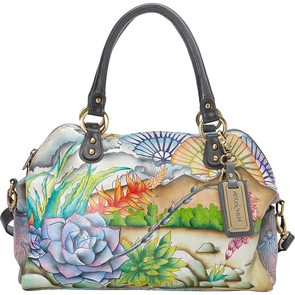 Anuschka Artist Satchel- LIMITED EDITION Succulent Sunset - Anuschka Leather Handbags