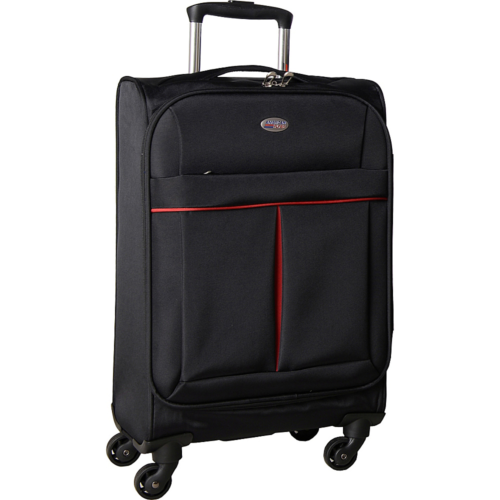 American Flyer Simply Lite! Collection 21 Carry On Spinner Black American Flyer Softside Carry On
