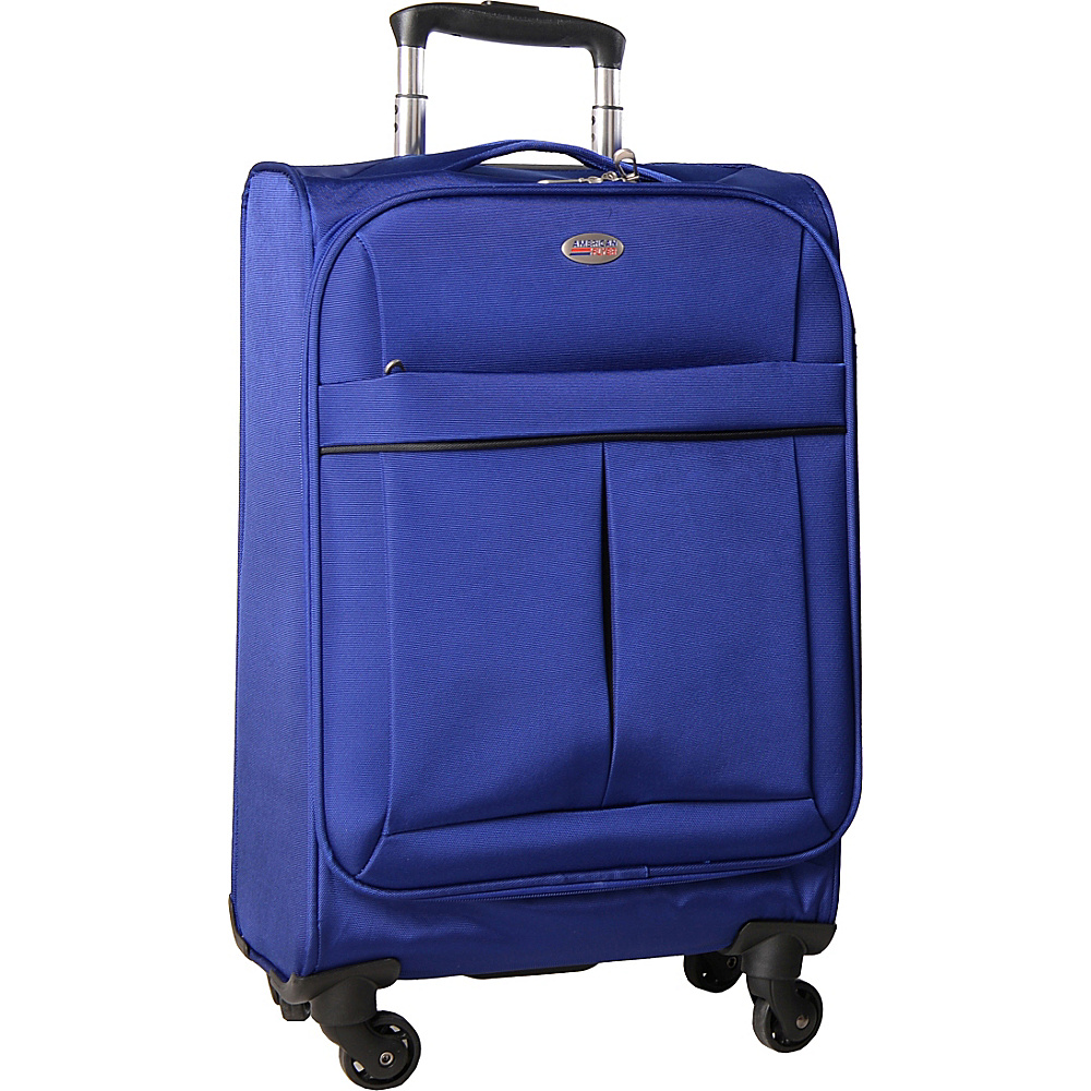 American Flyer Simply Lite! Collection 21 Carry On Spinner Blue American Flyer Softside Carry On