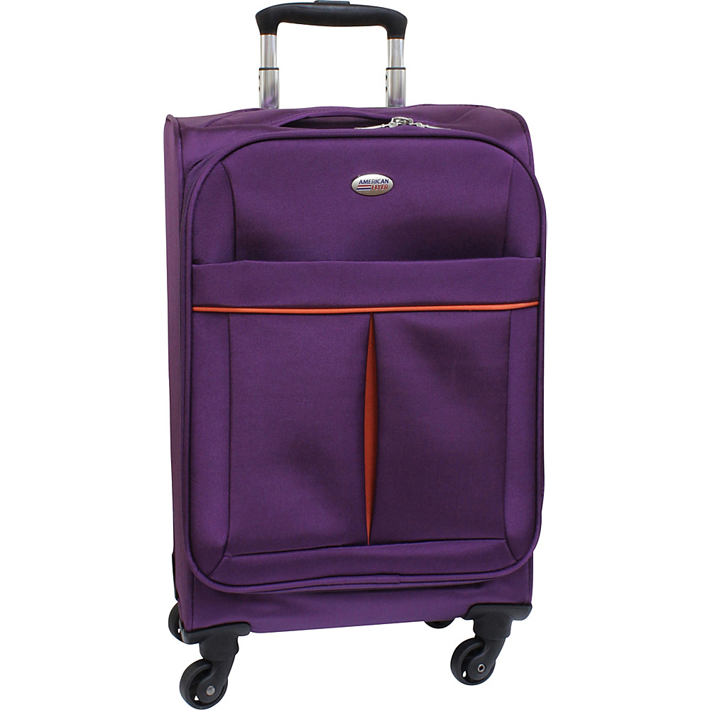 American Flyer Simply Lite! Collection 21 Carry On Spinner Purple American Flyer Softside Carry On