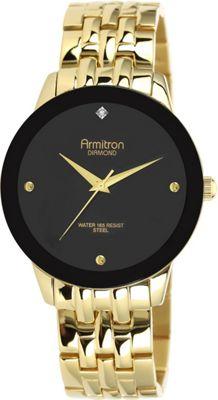 Armitron Men's Gold Diamond Dial Black Dial Gold - Armitron Watches