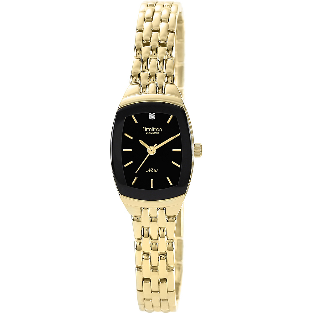 Armitron Gold Tone Diamond Dial Watch Gold Armitron Watches