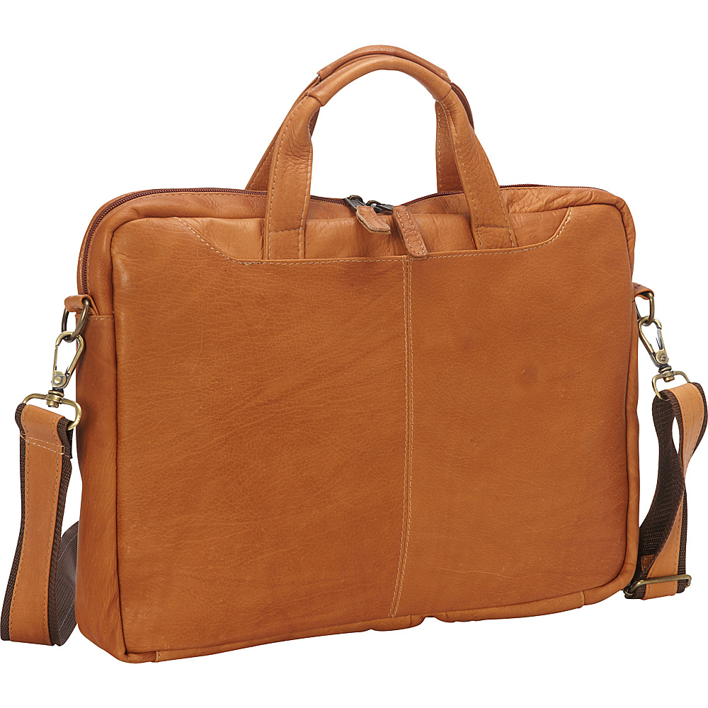 Latico Leathers Aspen Laptop Brief Natural - Latico Leathers Non-Wheeled Business Cases - Work Bags & Briefcases, Non-Wheeled Business Cases