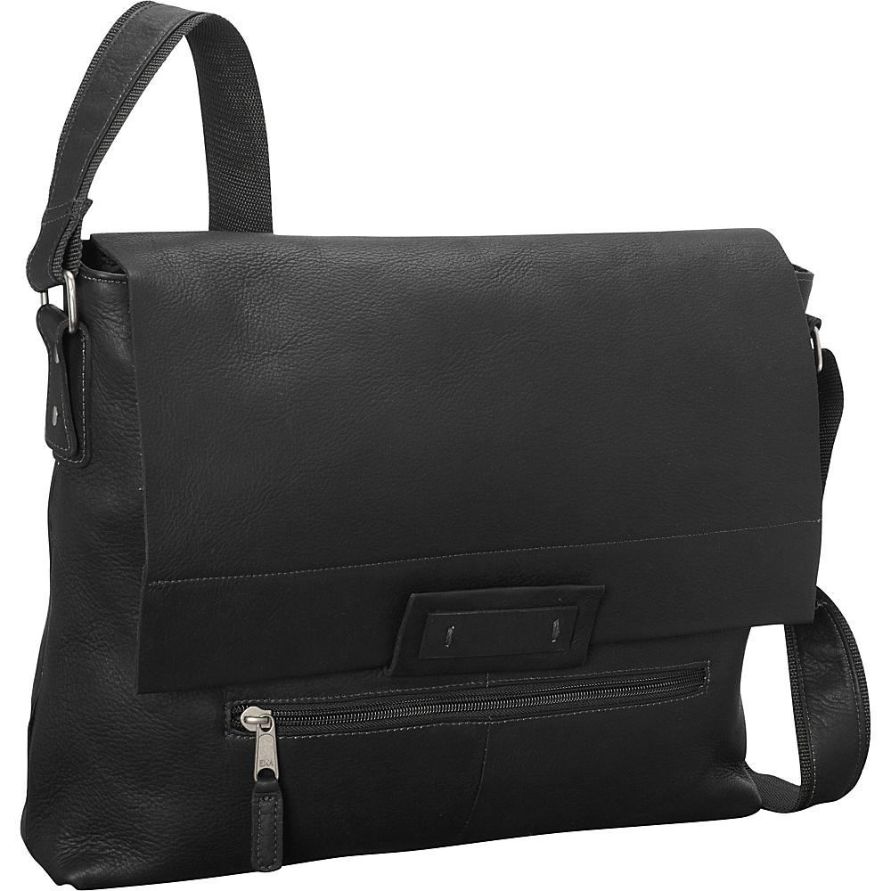Latico Leathers Denali Messenger Black - Latico Leathers Messenger Bags - Work Bags & Briefcases, Messenger Bags