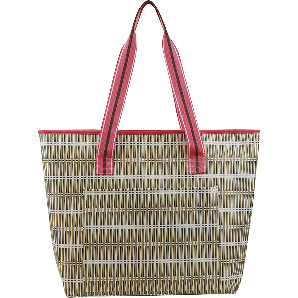 All For Color Cooler Tote Khaki Rattan All For Color Travel Coolers