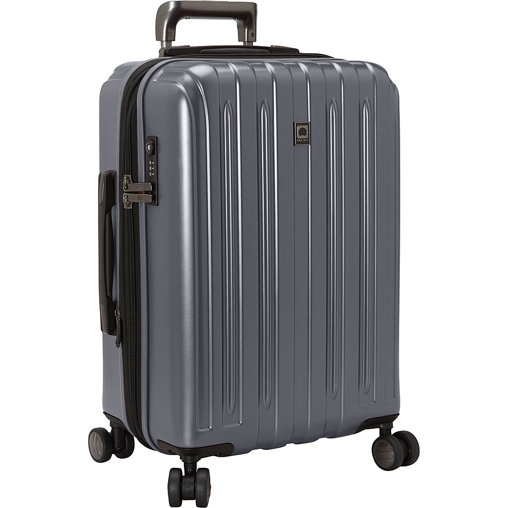 Delsey Helium Titanium Carry On Expandable Spinner Trolley Graphite Delsey Hardside Carry On